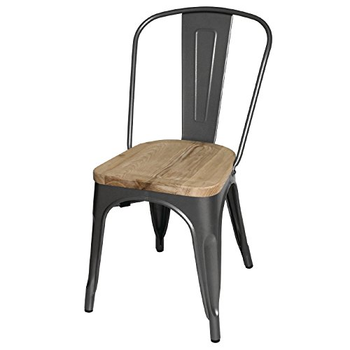 bolero-gg708-steel-dining-side-chairs-with-wooden-seat-pad-grey-pack-of-4