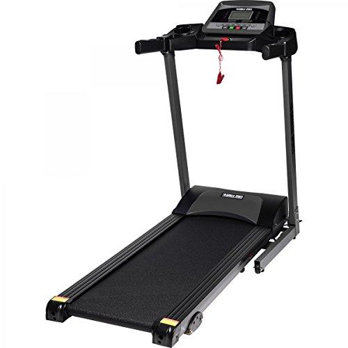 GORILLA SPORTS® Laufband Treatmill mit LCD-Monitor - bis 12 km/h und Steigung - elektrisch und klappbar (Elektromotor 1 Ps 3)