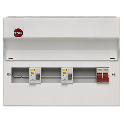 Wylex 10 Way Split Load Dual RCD All Metal Consumer Unit NMRS10SSLMHI