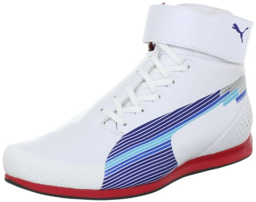 Puma evoSPEED Mid 303936, Herren Sportive Sneakers, Weiss (white-limoges-ribbon red 01), EU 43 (UK 9) (US 10) (Puma Herren Schuhe Ferrari)