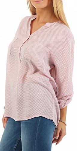 Malito Blouse Point 3/4 Tunique Haut Loose Oversize 9069 Femme Taille Unique Rose