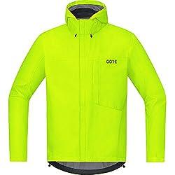 GORE Wear, Hombre, Chaqueta impermeable con capucha de ciclismo, GORE C3 GORE-TEX Paclite Hooded Jacket, Talla: XL, Color: Amarillo neón, 100036