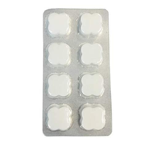 AquinTobs 1 x 8 Stück Reinigungstabetten für Kaffeevollautomaten im Blister