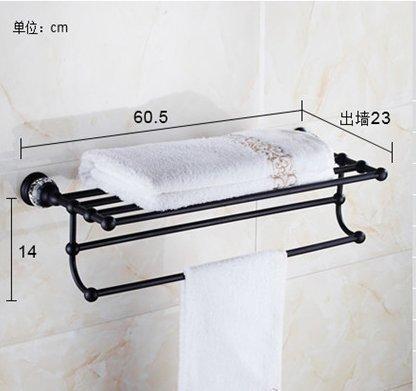 FACAIG Badezimmer antike Serie Handtuchhalter Wandhalterung 23 Zoll Kupfer eloxiert, Badetuch Rack 1 (Serie Casting Rod)