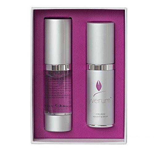 yverum – naturally yours HYALURON Seren-Set - 15 ml HYALURON anti-aging serum & 15 ml eye and lip...