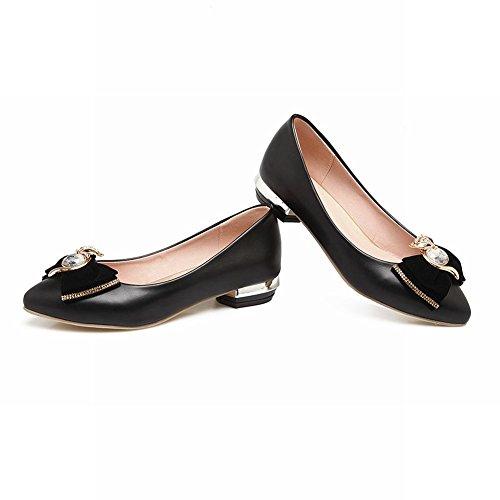 MissSaSa Donna Scarpe col Tacco Basso Elegante e Casual Shoes Nero