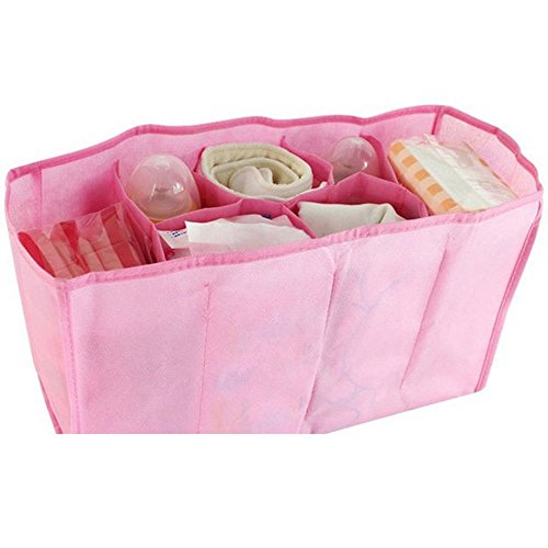 youpin-baby-windel-windel-wasser-flasche-trennwand-lagerung-organizer-wickeltasche-pink-7-zellen