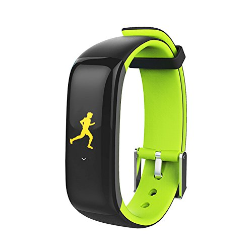 Price comparison product image Aupalla Kids Activity Trackers with Heart Rate Monitor Sleep Monitor Smart Health Watch for Girls and Boys (Green+Black)