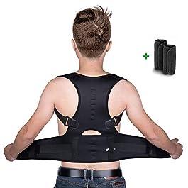 isermeo Correttore Postura Schiena, Corretta Posturale Spalle Regolabile, a Fascia Supporto Postura Correzione…