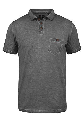 Solid Herren Polo-shirt (!Solid Termann Herren Poloshirt Polohemd T-Shirt Shirt mit Polokragen aus 100% Baumwolle, Größe:M, Farbe:Dark Grey (2890))