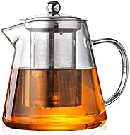 450ML Heat Resistant Glass Tea Pot,Chinese Flower Tea Set Pure Kettle Coffee Teapot for Office Home
