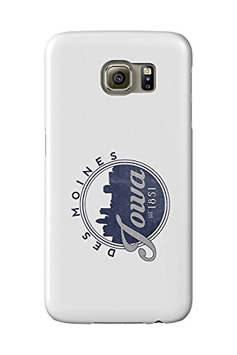 Des Moines, Iowa - Skyline Seal (Blue) (Galaxy S6 Cell Phone Case, Slim Barely There) (Des Moines Skyline)