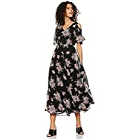 Styleville.in Synthetic a-line Dress (SDRF501415_Muilticolor_M)