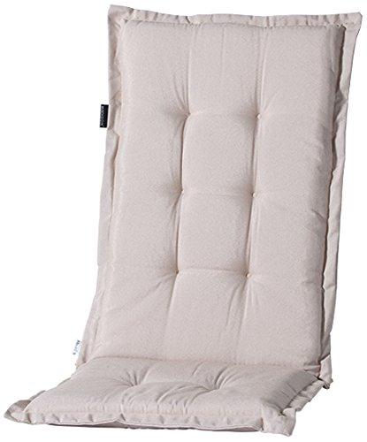 Madison 7PHOS-B251 Stuhlauflage, hoch Panama linnen, 123 x 50 cm, Baumwolle / Polyester, beige