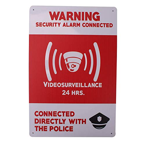 Carteles Alarma Videovigilancia Exterior. Placas de Seguridad casa hogar inglés