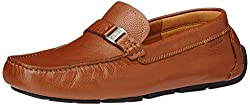 Clarks Mens Davont Saddle Tan Leather Loafers and Mocassins - 10 UK
