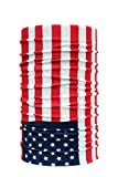 #7: Unisex 10 in1 Multifunctional Bandana, non branded us flag tube Headwrap bandana for biking cyling hiking etc,, Balaclava Free Size