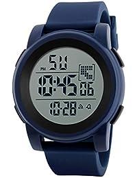 Reloj niño digital Relojes estudiantiles Reloj analógico digital impermeable deportivo LED para hombre reloj niño…