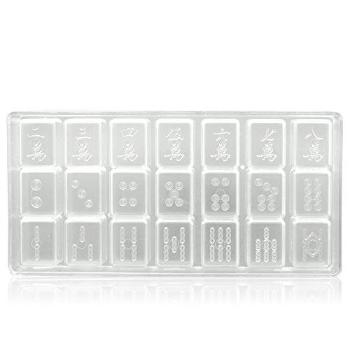 Kunststoff-schokoladen-bonbons (DIY Hart Kunststoff Mahjong Look Schokolade Süßigkeiten Jelly Eis Kuchen Dekoration Schimmel Transparent)