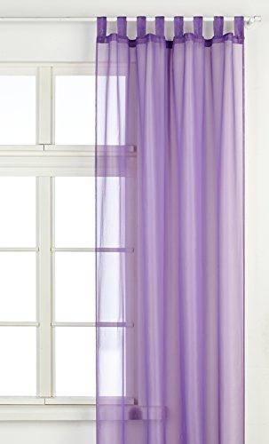 Splendid Collezione Diana - Tenda con Passanti, 140 x 245 cm, Colore Viola Scuro