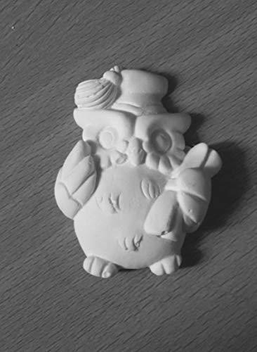 Hc 24 gessetti artigianali gufetto gufo portafortuna con tocco e diploma laurea pergamena per bomboniera segnaposto, laurea, nascita, battesimo, 18 anni segnaposto, chiudipacco, confettata
