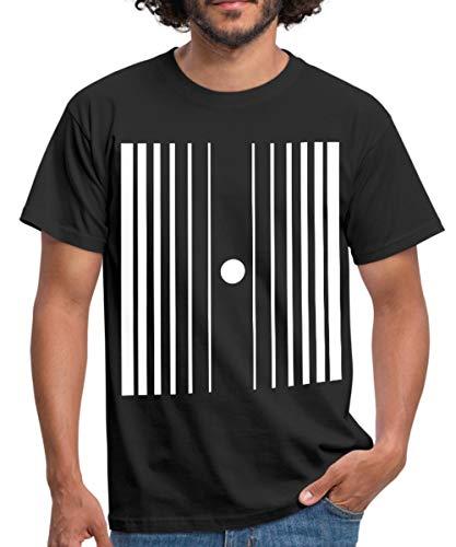 Spreadshirt Dopplereffekt Männer T-Shirt, L, Schwarz (Herren Sheldon Doppler Effekt Kostüm)