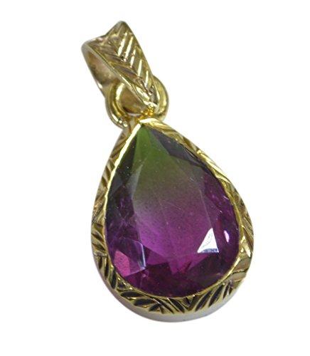 Riyo plated Multi-oro ciondolo in vetro dicroico grande gioielli fatti a mano gppdgl-22061