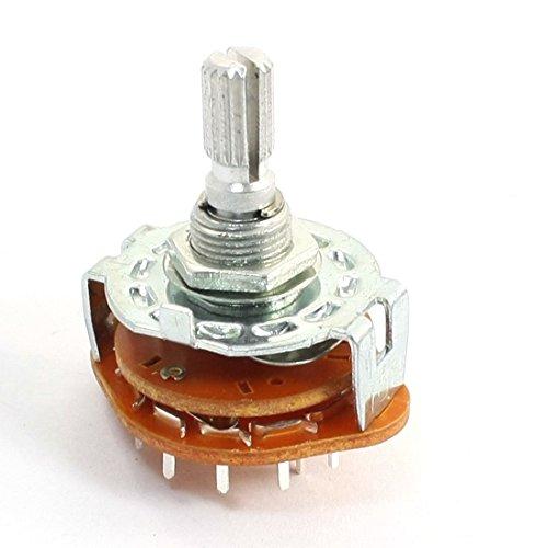 1 Pole 12 Position 6mm geschlitzt Wellen Dia Band Selector Rotary Switch 12 Position Rotary Switch