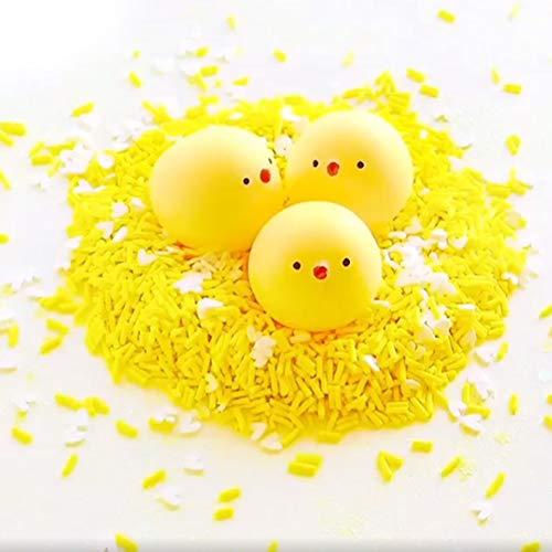 2Set Gelee Schlamm Transparent Fluffy Slime mit Süß Küken