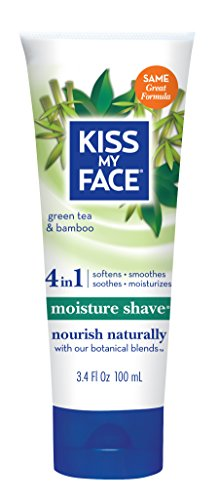 Kiss My Face Green Tea & Bamboo Moisture Shave (Paraben Free, Vegan, 100ml)