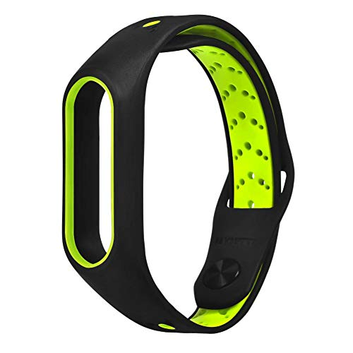 "Keng Uhrenarmband Silikonarmband 10.23""x0.7 x0.35 Für MI-Armband 2 Armband aus Silikonarmband True Zweifarbiges Spritzgießen, Reverse Venting Silikon-Armband"