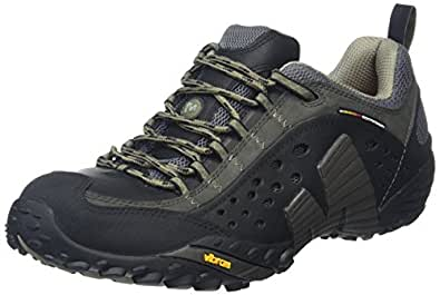 Merrell Intercept, Men's Lace-Up Outdoor Cross Trainer Shoes - Smooth Black, 6.5 UK