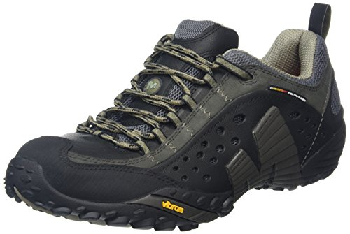 Merrell Intercept Scarpe da escursionismo Uomo, Nero (Smooth Black) 42 EU