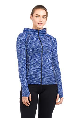 Epic MMA Gear Yoga-Jacke, sportlich, leicht, weiches Fleece. - Blau - Klein (Yoga Jacke Blau)