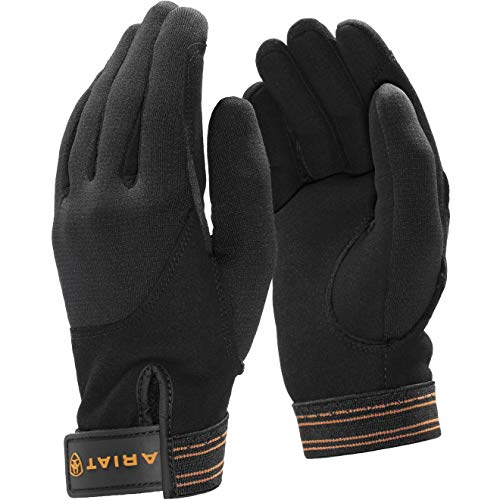 Ariat 8 Zoll (Ariat Insulated Tek Grip Everyday Riding Glove 8 Inch Palm Circumference Black)