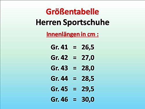 gibra Herren Sportschuhe Sneaker, Art. 1137, mit Klettverschluss, Schwarz, Gr. 41-46 Schwarz