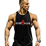 Cabeen Beast Mode Herren Muskel Gym Weste Bodybuilding Muscleshirt Stringer Tank Top