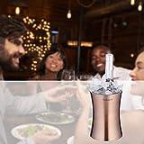 Velaze Edelstahl Flaschenkühler, 1,5 L Weinkühler, Sektkühler, Champagnerfarbe - 7