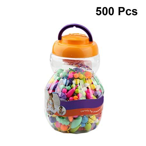 Toyvian 500 stücke Pop Snap Perlen Set Pop Perlen Spielzeug mit Aufbewahrungsbox für Kinder Kinder Schmuck Armband, DIY Handwerk