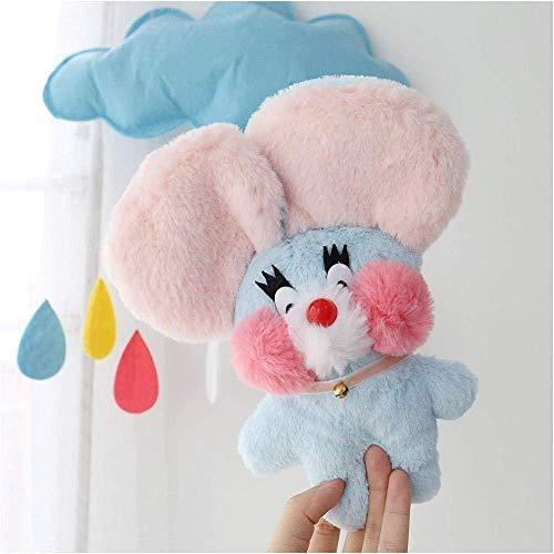 INGFBDS Peluche topo peluche gatto peluche orsacchiotto peluche animali regali di compleanno carino baby doll mouse peluche 23cm regalo giocattolo rosa per bambini