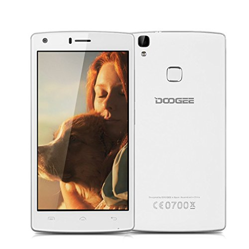 5.0''DOOGEE X5 MAX PRO IPS 4G Smartphone Android 6.0 Marshmallow MT6737 Quad Core 1.3GHz Cellulare 2GB di RAM 16GB ROM Aria Gestione Impronte Digitali 4000mAh Dual ID GPS WIFI Bianco