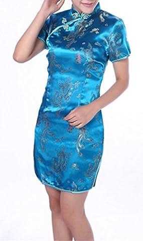 YICHUN Femme Robe Courte Robe de Soirée Elégante Cheongsam Qipao