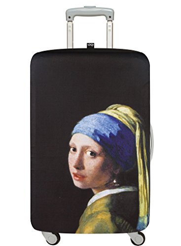 LOQI MUSEUM JOHANNES VERMEER Girl with a Pearl Earring, c.1665 Luggage Cover - Kofferhülle - Dehnbare Abdeckung Koffer