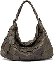 Genuine Leather Women's Shoulder Bag STEPHIECATH Large Casual Soft Real Leather Skin Tote Vintage Snap Bas
