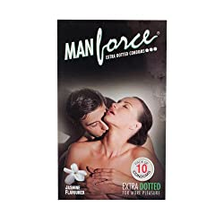 Man Force Extra Dotted Condoms -Jasmine Flavoured