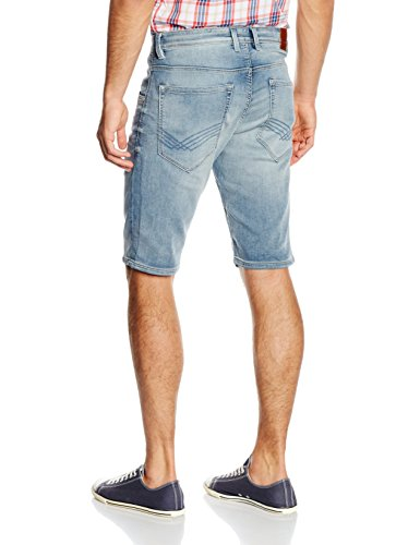TOM TAILOR Herren Jeanshose Denim Short Blau (light stone wash denim 1051)