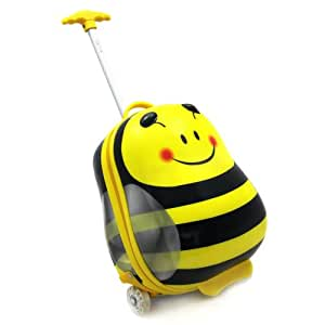 Luggo Bee Childrens Suitcase Light Up Wheels And