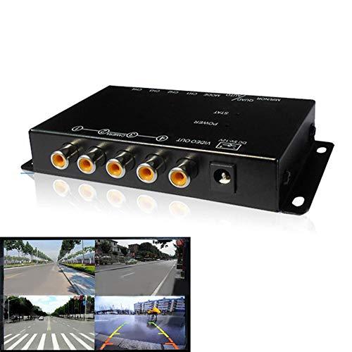 IR-Control 4 Kameras Video Control Auto Kamera Bild Switch Kombiner Box für Linksansicht Rechts Front Hinten Parkkamera-Box Kamera Switch Box
