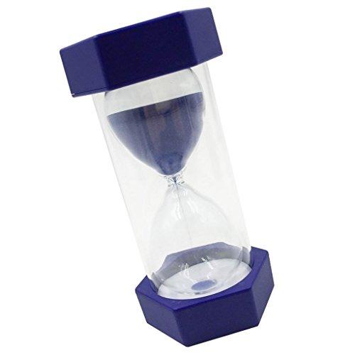 Gazechimp 1/2/3/5/10/15 Minuten Sechseckig Sanduhr Teeuhr Zahnuhr Sanduhren Timer, aus Holz + Glas + Sand, Perfekt für Kochen, Zahnbürste, Spielen, Trainieren - blau, 2 min -