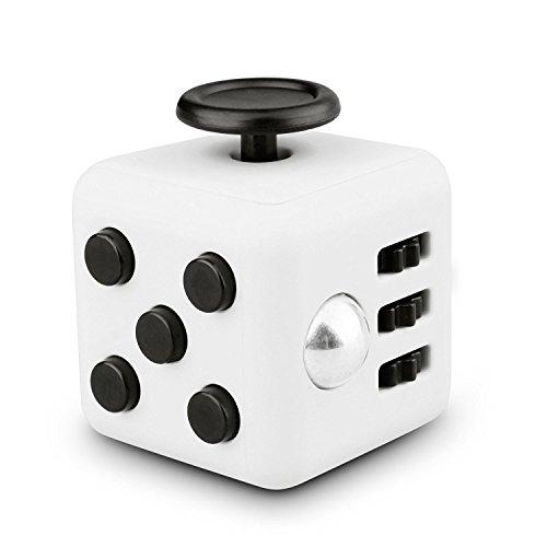 Sottolineare dadi come FIDGET CUBE come un giocattolo perfetto per la strada, al lavoro o in sala d'attesa (In bianco e nero)